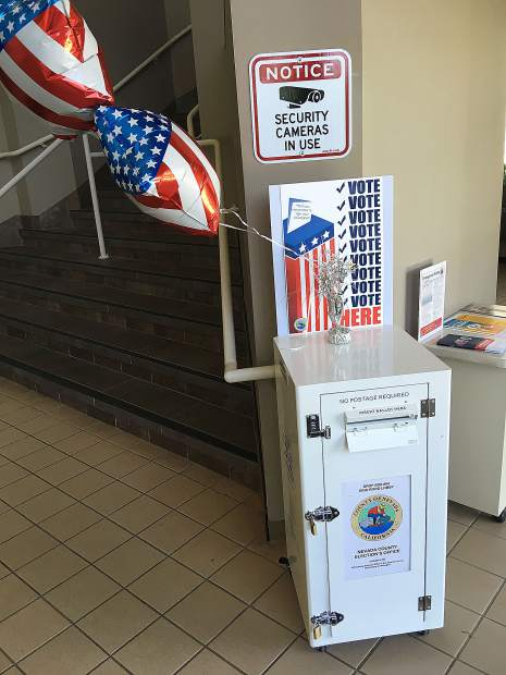 Nevada County voters can drop off their ballots at one of several spots.