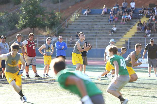 PREP FOOTBALL: Nevada Union's new offensive scheme leads to success in summer 7-on-7s