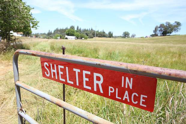The Bitney Springs firewise community has identified a pair of shelter in place temporary refuge zones, this one off of Personeni Lane and the other further down Bitney Springs Road.
