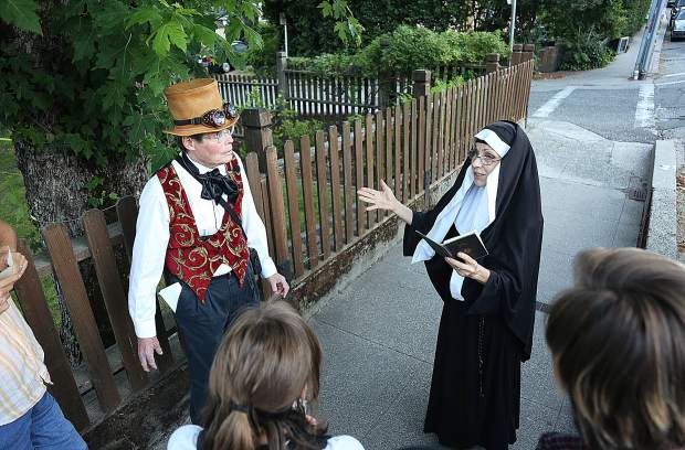 Sister Mary from St. Mary's Academy explains how the churches were an early establishment here during Grass Valley's early years.