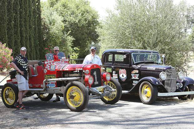The roads surrounding Nevada County were chock full of vintage cars participating in The Great Race road rally.