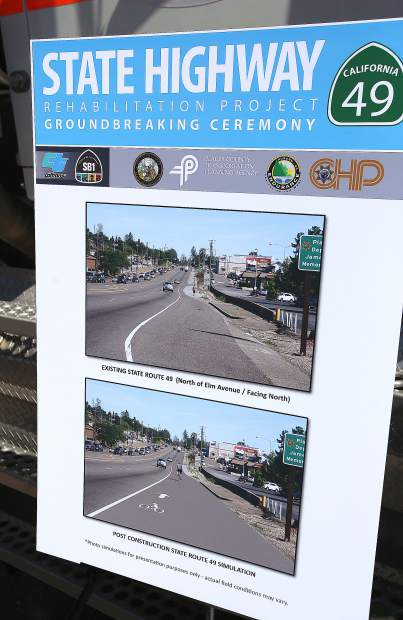 Informational displays denote the various improvements to receive the $40.5 million in state funds. The project will take place between I-80 and Dry Creek Road in Auburn and is slated for completion in August 2021.