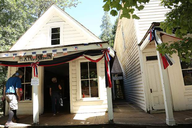 Humbug Day attendees were able to admire the restored buildings of North Bloomfield, including the Kings Saloon, the Drugstore, and the Quitman Masonic Lodge.
