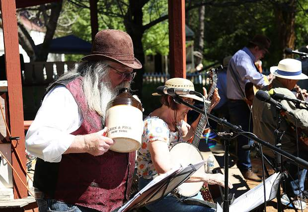 There was music to be heard during Humbug Day 2019 with bands playing many authentic sounding tunes of the time.