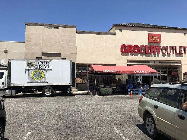 Grocery Outlet donates food and invites the Interfaith Food Ministry to collect food, money and to raise awareness about food insecurity each year.
