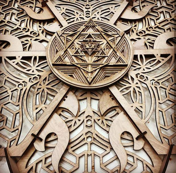 Laser Cut Mandala by Travis Pope.