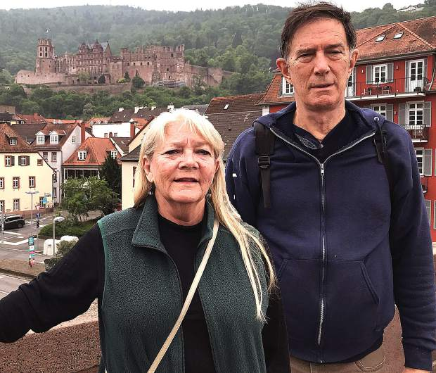 Karen Winguth and Curt Motola visited many castles during their European cruise, including this one in Heidelberg, Germany.