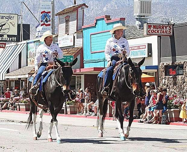 "Bonnie Easley and a friend have won ""Best Matched Pairs"" in the Bishop Mule Days parade four of the past five years."