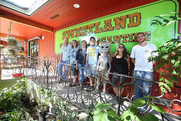 The workers of Sweetland Garden and Mercantile are ready to help with your garden and landscaping needs off Highway 49 in downtown North San Juan.