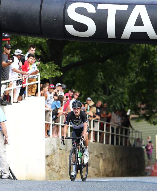 Sebastopol's Gavin Murray becomes the unlikely winner of the 2019 Nevada City Classic following a large crash in the final turn of the race Sunday evening.