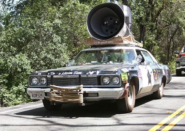 On a mission from Jeff, this Blues Brothers inspired tribute vehicle was just one of the hundreds of unique rides to roll through Grass Valley and Nevada County as part of the Great Race 2019.