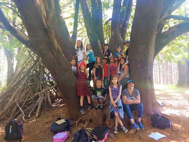 Students from Chicago Park were among those making BioBlitz trips hosted by the Bear Yuba Land Trust.