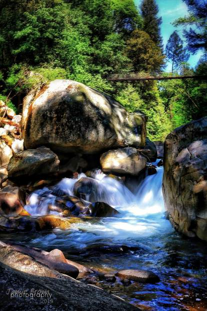 The Deer Creek at the tribute trail in Nevada City.