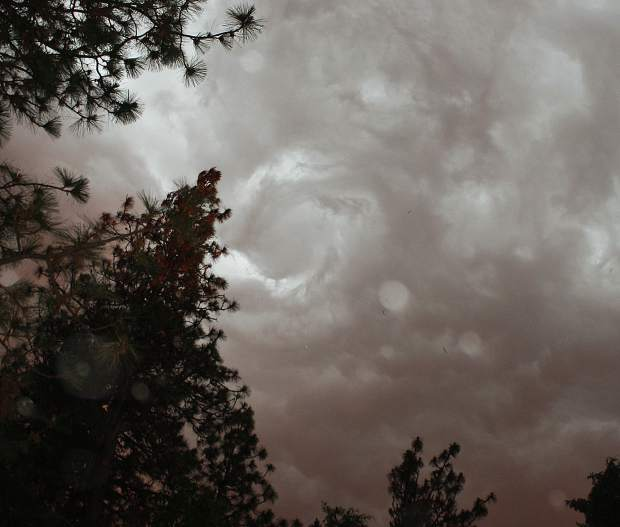 Swirling clouds during Saturday's (June 1) storm.