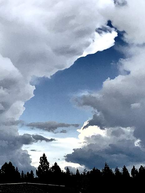 Dramatic sky end of May Grass Valley.