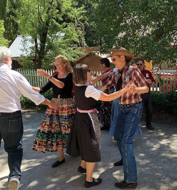 Nevada County Captures: Goldancers Square Dance Club kicked up their heels during Humbug Day