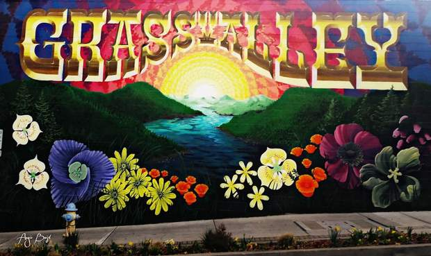 A mural in downtown Grass Valley.