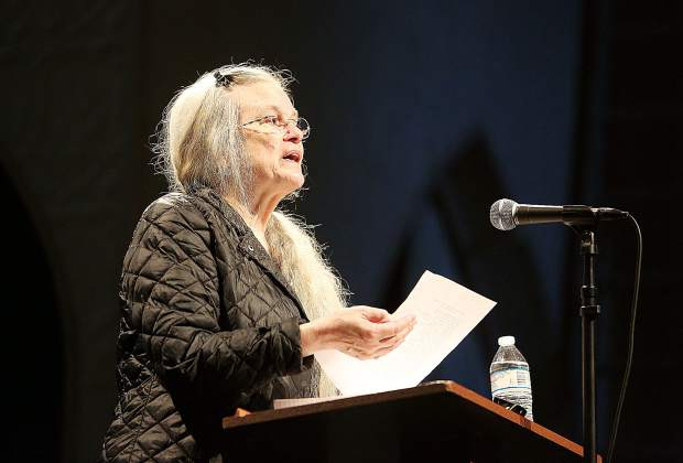Sharon Olds won her Pulitzer Prize for poetry in 2013 and has received numerous recognitions for her work. She was one of eight to read during Friday evening's event at St. Joseph's Cultural Center.