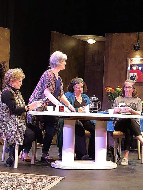From left, Carolyn Winters, Nancy Haffey, Kristine Alcamo and Kim Wellman are all cast in the show