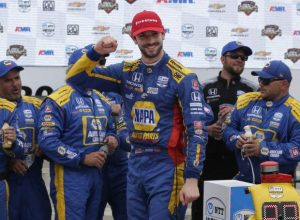 AUTO RACING: Rossi happy to get win after string of runner ups