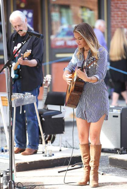 Jessica Rose and the Jessica Rose Band entertained the Thursday Night Market masses from a selection of country tunes.
