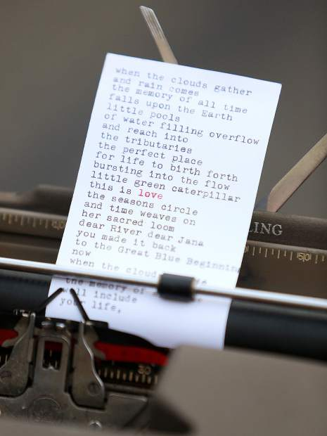 A poem is written by the Poem Store's Jesse and Camile.