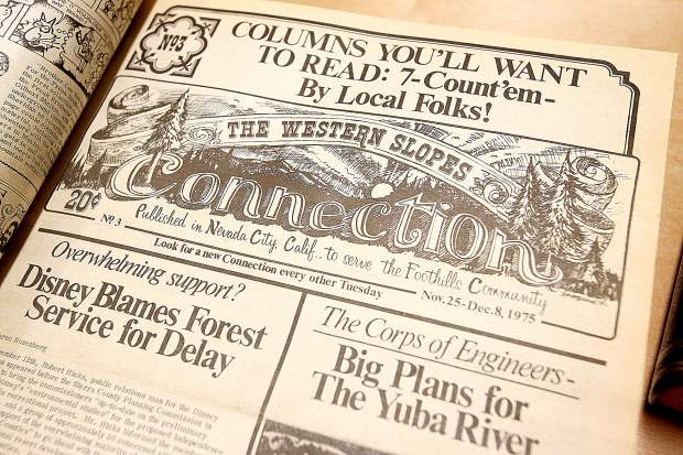 The Western Slopes Connection provided an alternative voice for Nevada County and published many articles that were considered counterculture at the time. DicKard owned the last known complete copy of the newspaper collection and donated them to the Searls Library due to the potential for fire danger at her home.