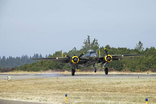 Announcers at Saturday's Grass Valley Airshow talked about aviation history and planes featured.