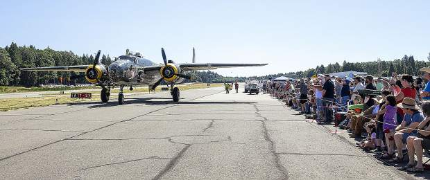 Crowds gathered Saturday to see planes in the air and up close at the Grass Valley Airshow.