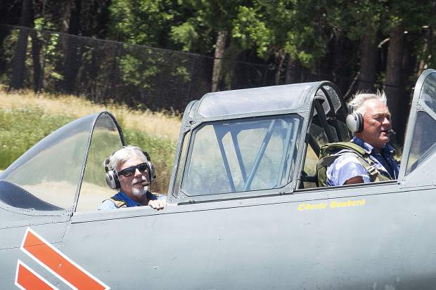 Crowds gathered Saturday for the Grass Valley Airshow at the Nevada County Airport. Attendees watched planes fly and got to see them up close once on the ground.