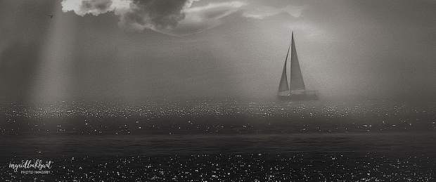 """This mysterious, moody image of a """"Ghost Ship"""" is an example of her first place winners."""
