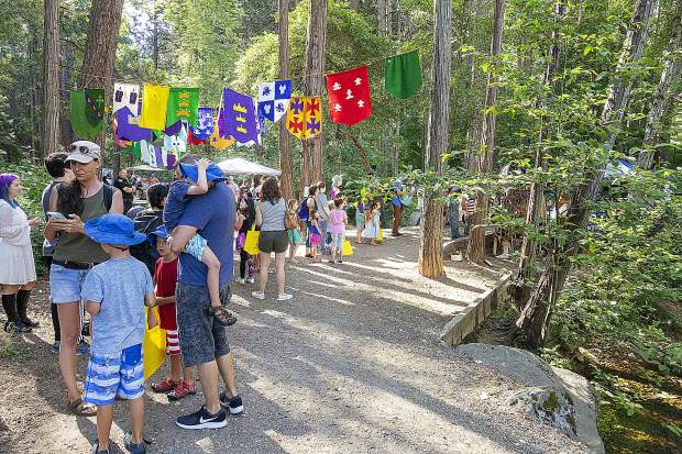 Hundreds of people were expected at Friday's Children's Festival at Pioneer Park in Nevada City.