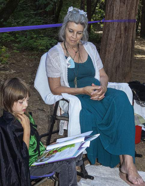Kids at the Children's Festival could make their own costumes, swords, jewelry and magic wands.