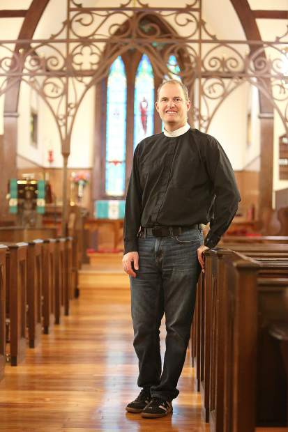 Fr. Seth Kellerman is also a Nevada County returnee. He spent some time in the army and other places before coming back to pursue his dream of being an Episcopalian minister.