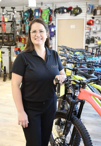 Nevada County returnee Jessica Sears Echternacht now manages a medical office, but met her husband at Tour of Nevada City Bike Shop. Her family now lives in Nevada County.