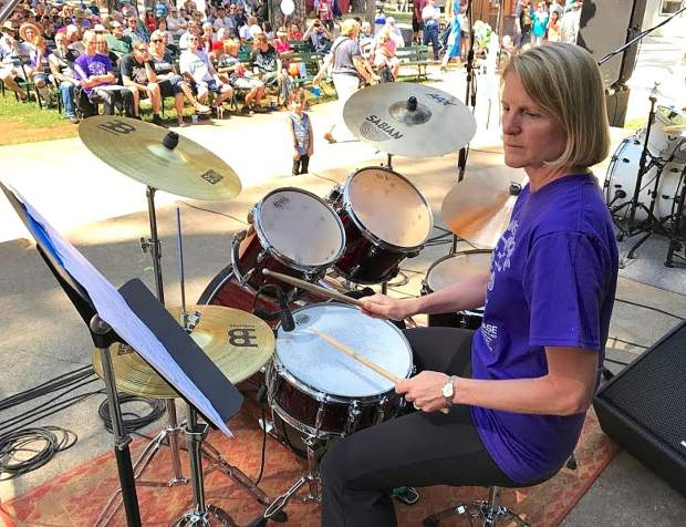 Student Kim Zwick performs at a previous Drummer's Showcase.