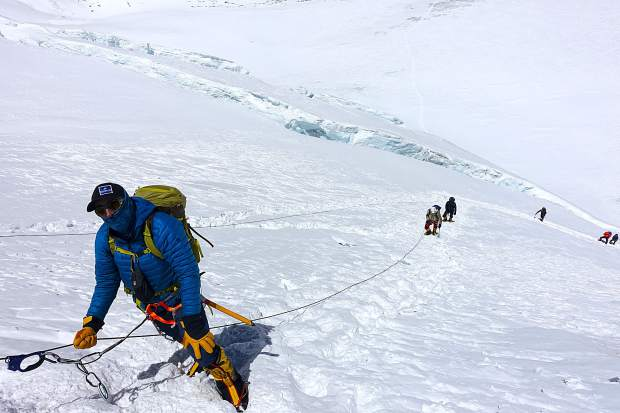 South Lake Tahoe's Robin Desota during his ascent of Mount Everest.