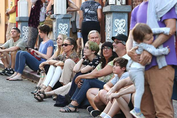 Many people came out to enjoy the pleasant weather, great art, and live performances on the streets of downtown Nevada City during the second First Friday Art Walk of the summer Friday July 5.