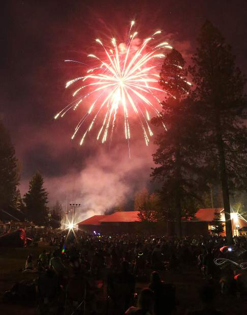 The Nevada County fairgrounds offer a great vantage point for the annual Fourth of July fireworks show Thursday evening.