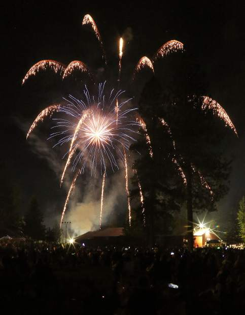 Many multicolored fireworks filled the sky during Thursday evening's Fourth of July Fireworks show, touted as being one of the best in recent years by attendees.