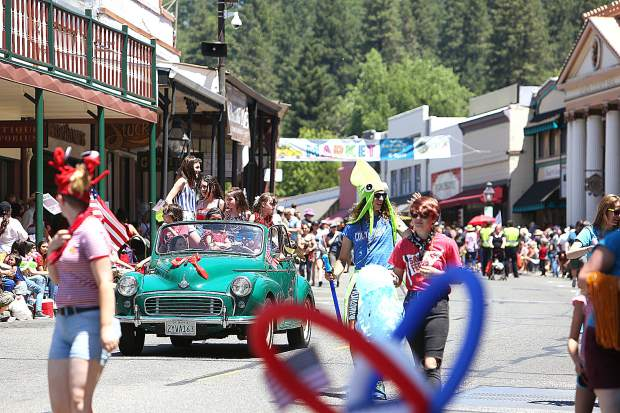 Hundreds lined Mill Street and other downtown streets in Grass Valley Thursday for the annual Nevada County Fourth of July Parade. The parade alternates between Grass Valley and Nevada City and next year will take place in Nevada City.
