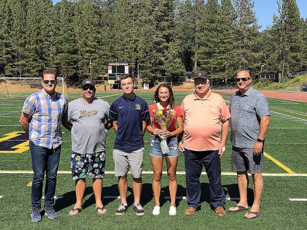 Dylan McGilvary and Vanessa Enriquez, a pair of recent Nevada Union graduates, were awarded scholarships developed to honor Justin Gardner.