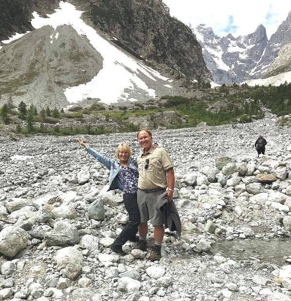 During their two-week European vacation, Kacie and Peter Callaham hiked Écrins National Park located in the south-eastern part of France in the Dauphiné Alps.