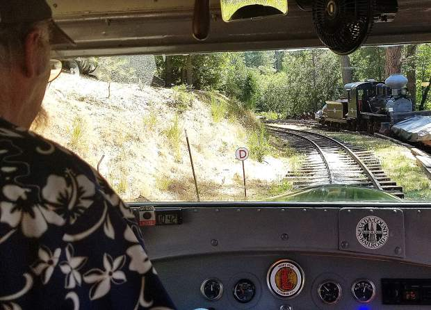 Nevada County's Narrow Gauge Railroad takes tourists and locals on its 35-minute railbus excursions several times each Saturday through October.