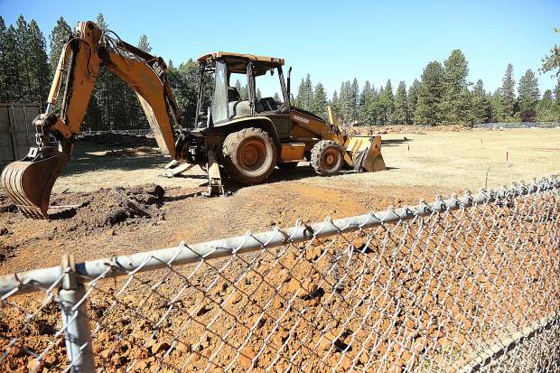 Tractors and other earth moving equipment are currently on site at the Lyman Gilmore Middle School fields where a new synthetic turf is being installed with the help of Measure E funds.