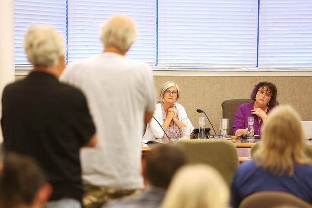 Tensions ran high during Tuesday evening's Nevada City