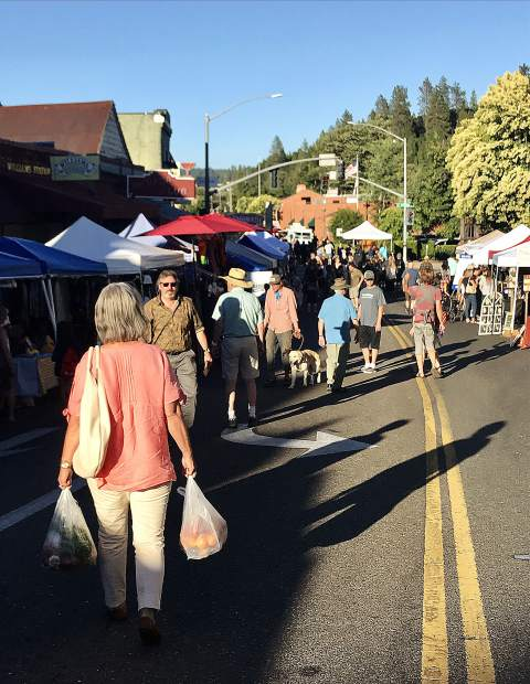 Photos from Thursday night's Farmer's Market in downtown Grass Valley.