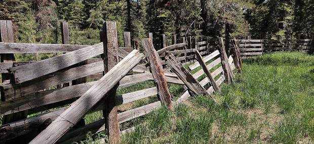 The old corral on Meadow Lake Road in Nevada County.