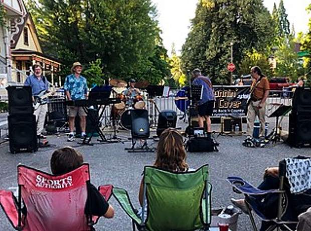 Great entertainment on July 17 Night Out, at the top of Broad Street in Nevada City.