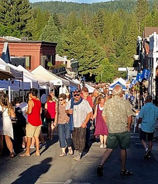 A night out in Nevada City on July 17.